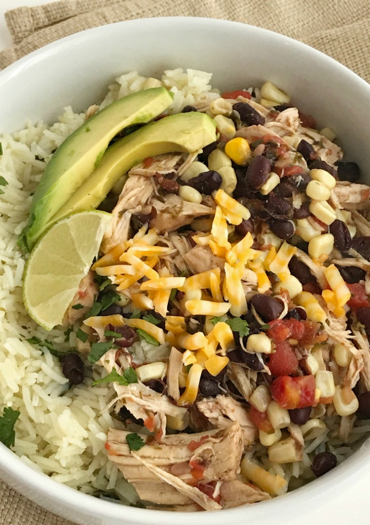 Instant Pot Santa Fe Chicken Burrito Bowls Together As Family