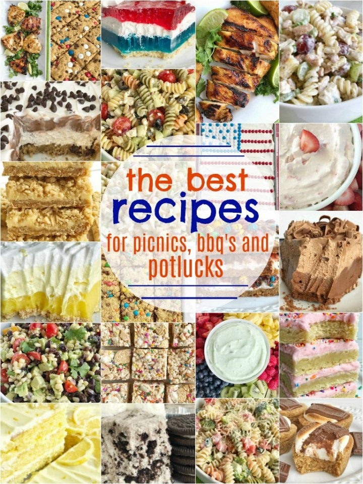 The Best Recipes for Memorial Day & 4th of July   You are sure to find some great recipes in this collection of the best recipes for Memorial Day & 4th of July! Side dishes, pasta salad, fruit dips, dessert, no bake pies, grilling recipes, and so much more. These are all tried & true family favorite recipes that are sure to get rave reviews at any potluck, picnic, or BBQ for the Holidays. #pastasalad #bbqrecipes #easyrecipes #summerrecipes #4thofjuly #memorialdayrecipes
