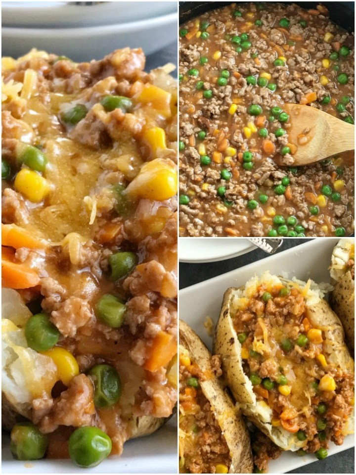 Shepherd's Pie Baked Potatoes