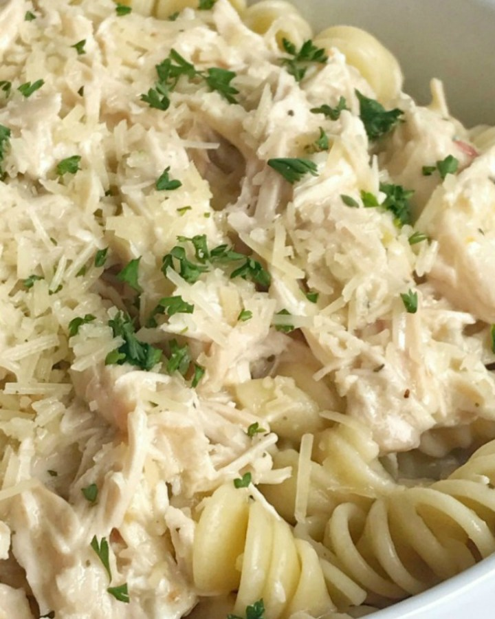 Slow Cooker Creamy Italian Chicken | Crock Pot Recipe | Chicken | Dinner Recipe | Slow cooker creamy Italian chicken is an easy and creamy delicious dinner. It's a dump & go slow cooker meal that takes just minutes to prepare and then it's ready when you are. The chicken is fall apart tender and it makes the most amazing creamy Italian sauce. Serve over pasta or rice for a delicious dinner. #easydinnerrecipe #chicken #slowcooker #crockpot
