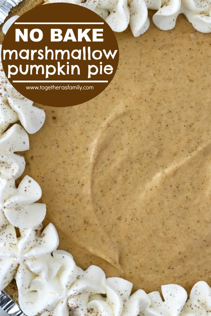 No Bake Marshmallow Pumpkin Pie   No Bake Pumpkin Pie   Pumpkin Recipes   No bake pumpkin pie with marshmallows is a sweet and creamy twist to classic pumpkin pie. Marshmallow, Cool whip, and pumpkin combine to make a delicious pumpkin pie in a store-bought graham cracker crust. #pumpkin #pumpkinrecipes #pumpkinpie #nobakerecipes #nobakedesserts #fallbaking