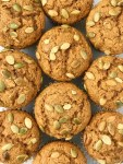 Honey Wheat Pumpkin Muffins   Pumpkin Muffin Recipe   Pumpkin Recipe   Healthy honey wheat pumpkin muffins have no white flour or white sugar and are only one bowl! Made with honey, whole wheat flour, brown sugar, pumpkin, and warm pumpkin spice. Top with some pepitas for the best pumpkin muffin recipe. #pumpkin #pumpkinrecipes #muffins #pumpkinmuffins #fallrecipe