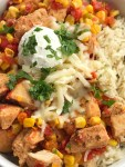 Tex-Mex Chicken | Chicken Recipes | Dinner Recipe | Slow Cooker | Crock Pot | Tex-Mex chicken is made in the slow cooker with only 5 easy ingredients plus some seasonings! Set it and forget it dinner that is ready when you are and it's healthy & nutritious. Serve as rice bowls, inside burritos, on top of nachos, or any other way you want. #chicken #chickenrecipe #slowcooker #crockpot #easydinnerrecipes #dinner #healthy #recipeoftheday