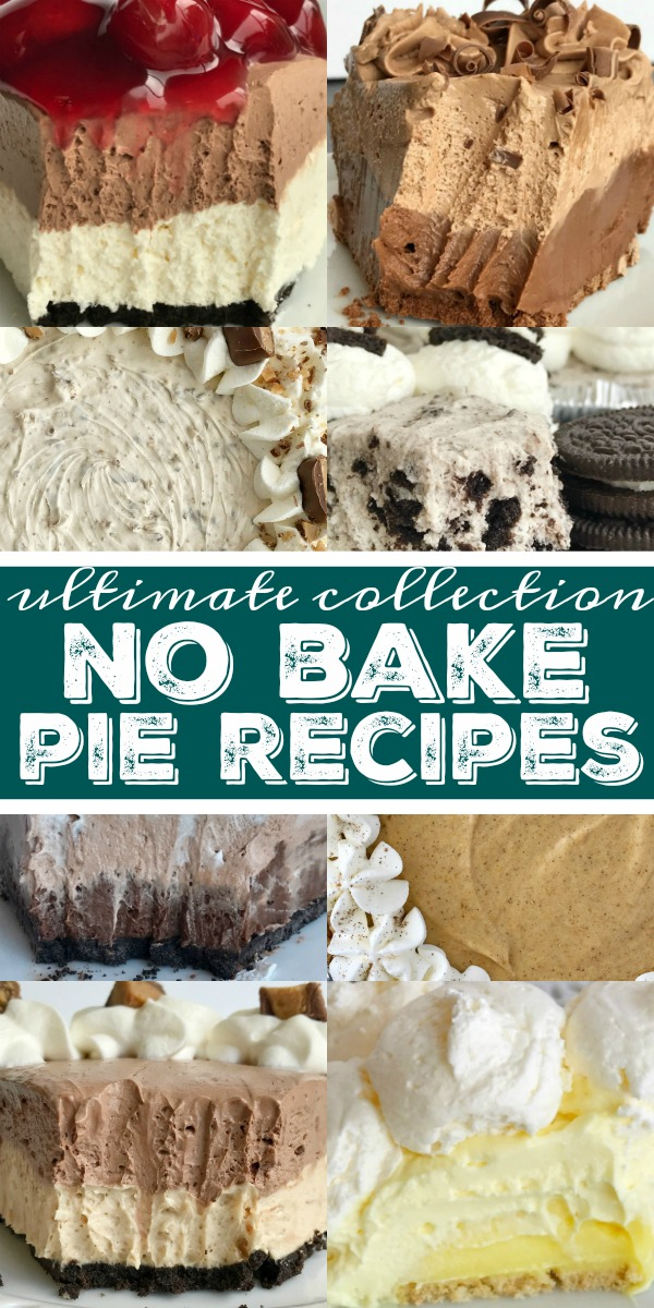 No Bake Pie Recipes | No Bake Thanksgiving Pies | Pie Recipes | The ultimate collection of tried & tested family favorite no bake pie recipes. These pie recipes are perfect for Thanksgiving dessert or any Holiday dinner. Great for summertime picnics and easy weeknight family dessert. #pie #nobake #nobakepies #thanksgivingrecipes #recipeoftheday #dessertrecipe #dessert