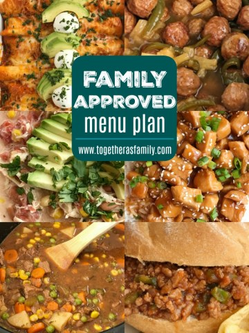Family Approved Menu Plan |Family menu plan that your entire family will love! Easy, family approved, simple ingredients, and delicious food to enjoy together. All these recipes are tried & true and been tested many times over again in my own kitchen. Happy cooking from my kitchen to yours ♥