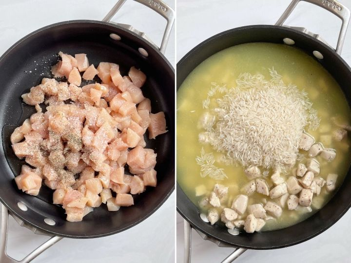 How to make this chicken rice recipe with step by step pictures.