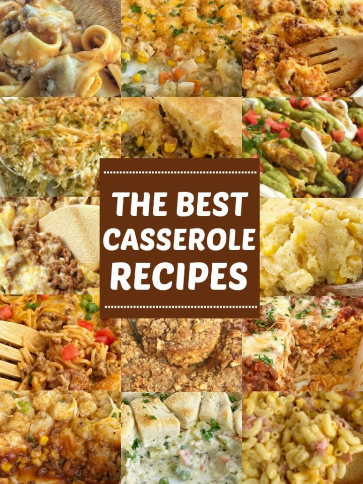 The Best Casserole Recipes | Casseroles | Dinner Recipes | Casserole Recipes | The Best Casserole Recipes all in one collection! Family favorite, delicious, easy to make, and simple ingredients. Casseroles are a family dinner staple and these are our very favorite casserole recipes. #casseroles #casserolerecipes #dinner #recipeoftheday #easydinnerrecipes
