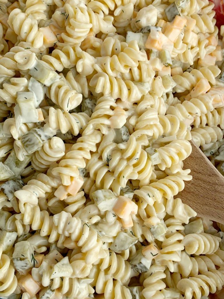 dill pickle pasta salad recipe