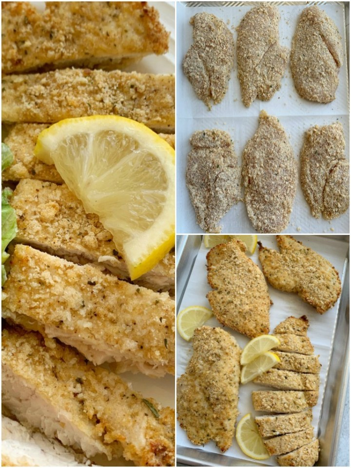 How to make lemon parmesan chicken with photo instructions.