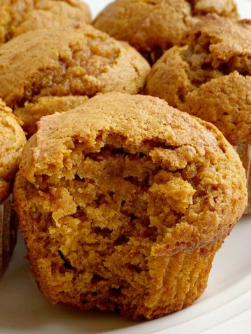 Perfect Pumpkin Muffins | Pumpkin Muffins | Pumpkin Recipes | Pumpkin Muffins are soft, moist, bake up perfectly, loaded with pumpkin, spices and they use one entire 15 oz can of pumpkin. The perfect pumpkin muffins. #pumpkin #pumpkinrecipes #muffins #fallbaking #thanksgivingrecipes #recipeoftheday