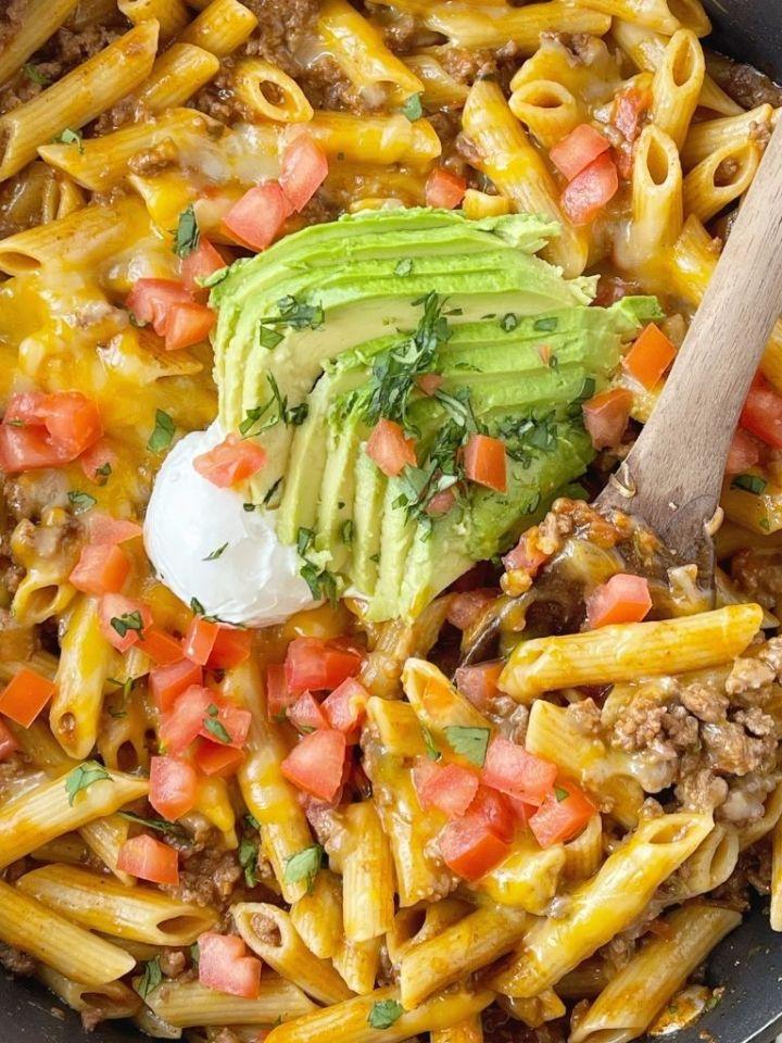 Easy Taco Pasta Skillet