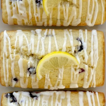 Lemon Blueberry Banana Bread is the best way to use up those browned bananas. Moist & sweet bread full of fresh blueberries, fresh lemon zest and lemon juice, and bananas.