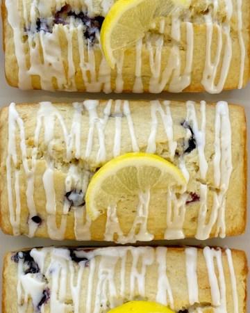 Lemon Blueberry Banana Bread is the best way to use up those browned bananas. Moist & sweet bread full of fresh blueberries, fresh lemon zest and lemon juice, and bananas.