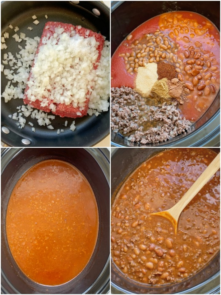 How to make crockpot chili with step-by-step photos. You will love this chili recipe!
