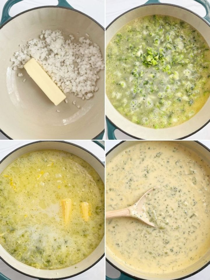 Broccoli soup recipe with velveeta cheese.
