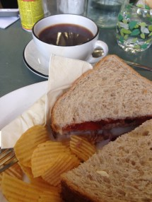 Just a tuna sandwich for me, even though their brunch options looked delicious. I was more excited to try the coffee.