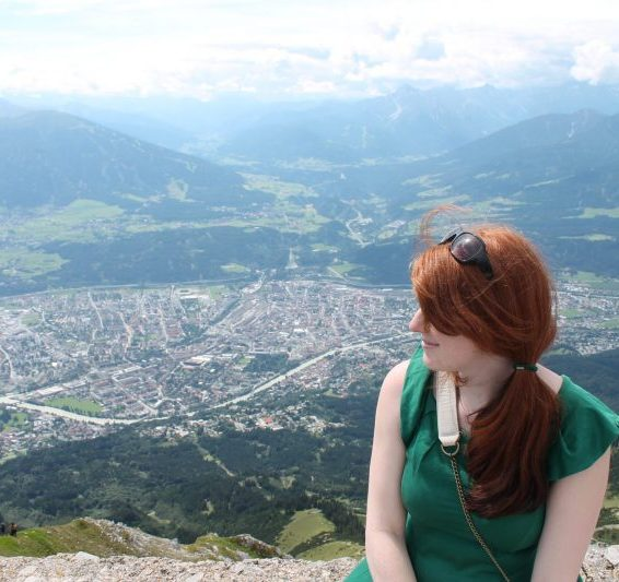 At the top of the hiking location in Innsbruck