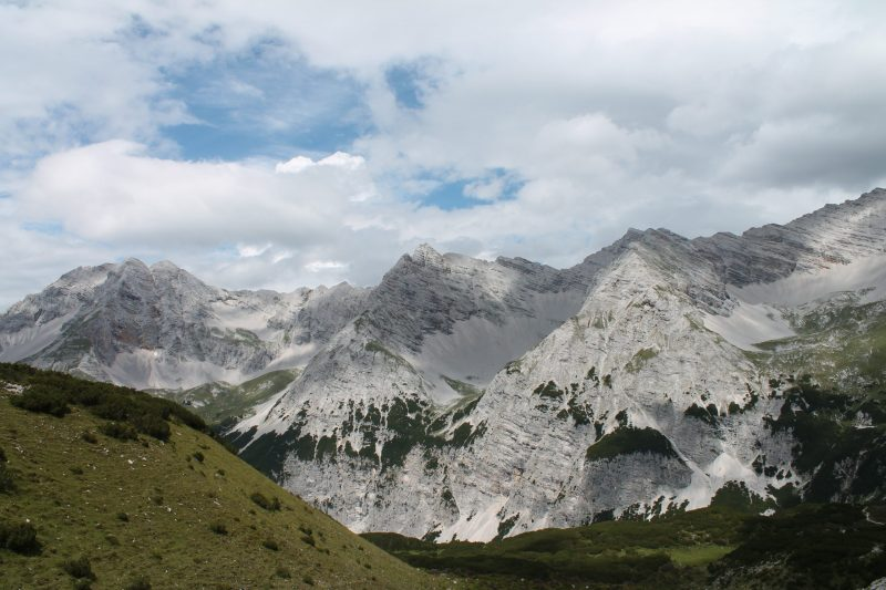Mountain views towards the north of Austria