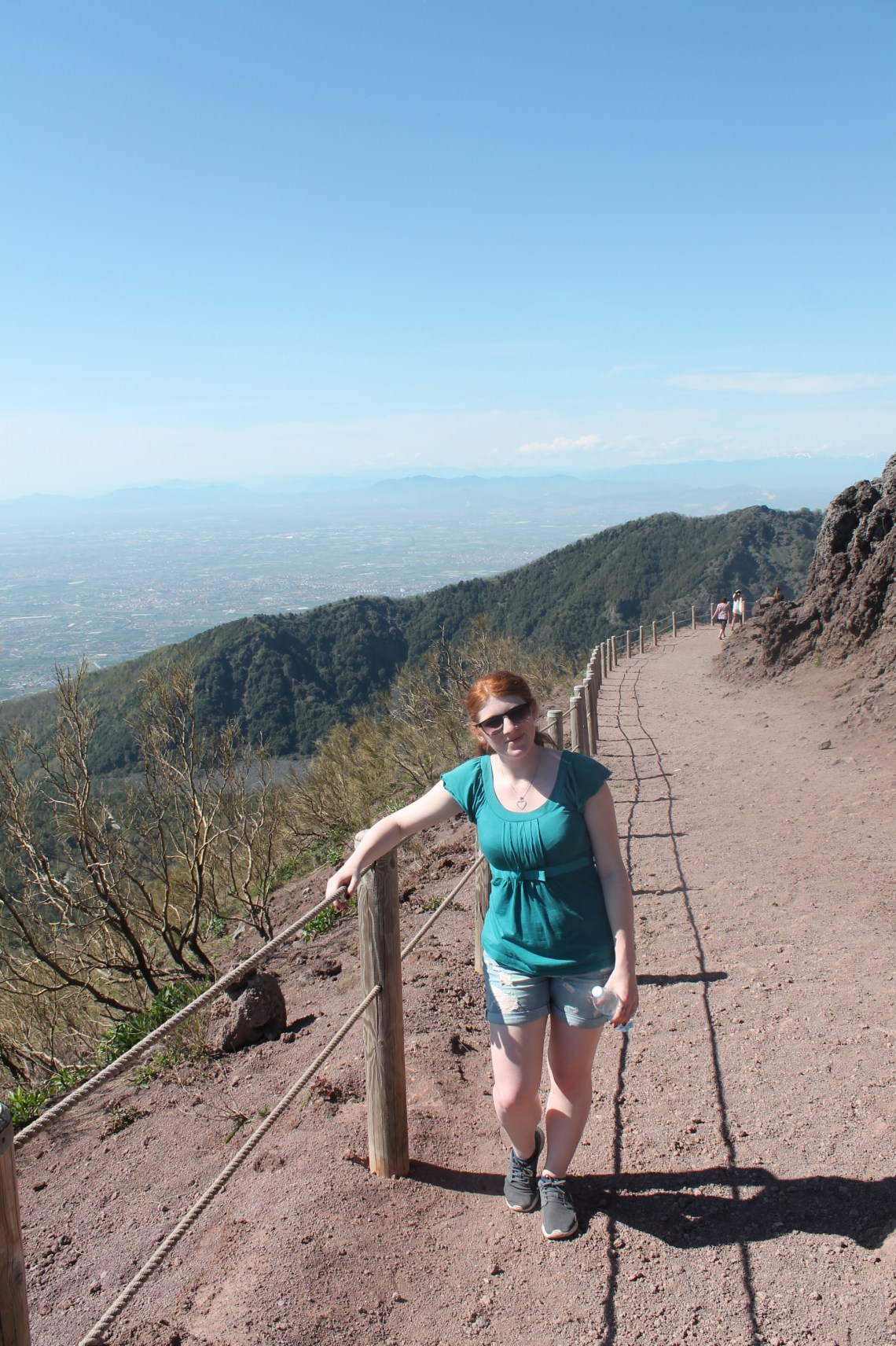 Me Hiking up the edge on Mount Vesuvius