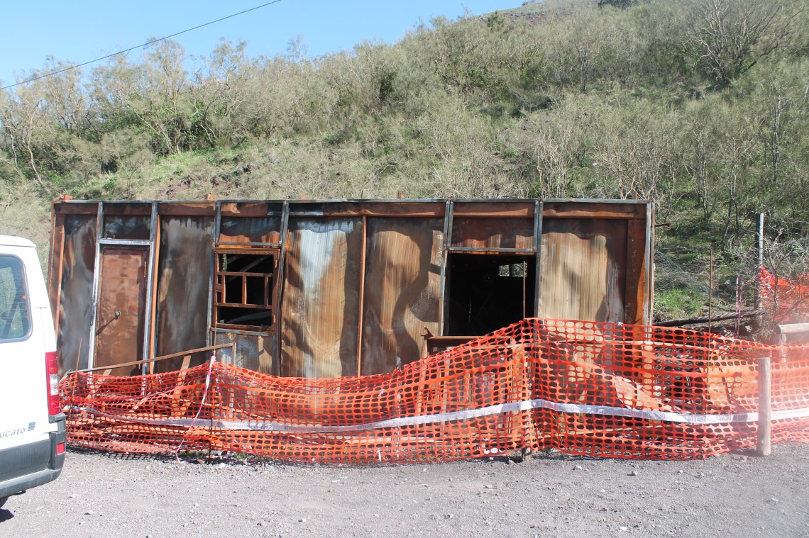 Little shop that was electrocuted by lightening on Mount Vesuvius