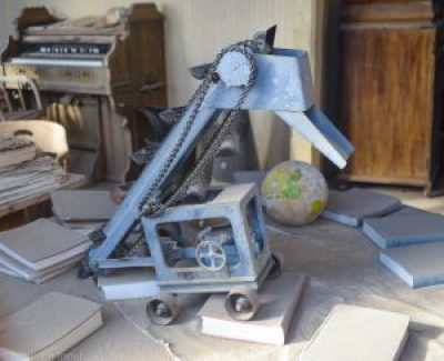 A mining tool toy at the school at Bodie State Park, California