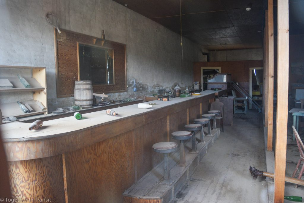 Inside the saloon at at Bodie State Park, California