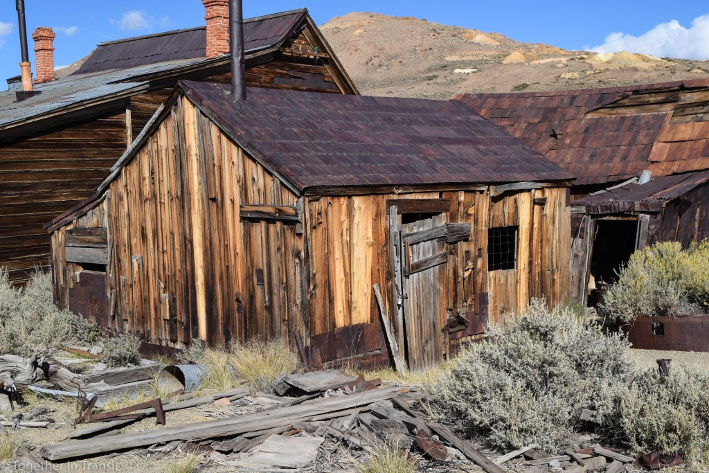 More abandoned houses at at Bodie State Park, California