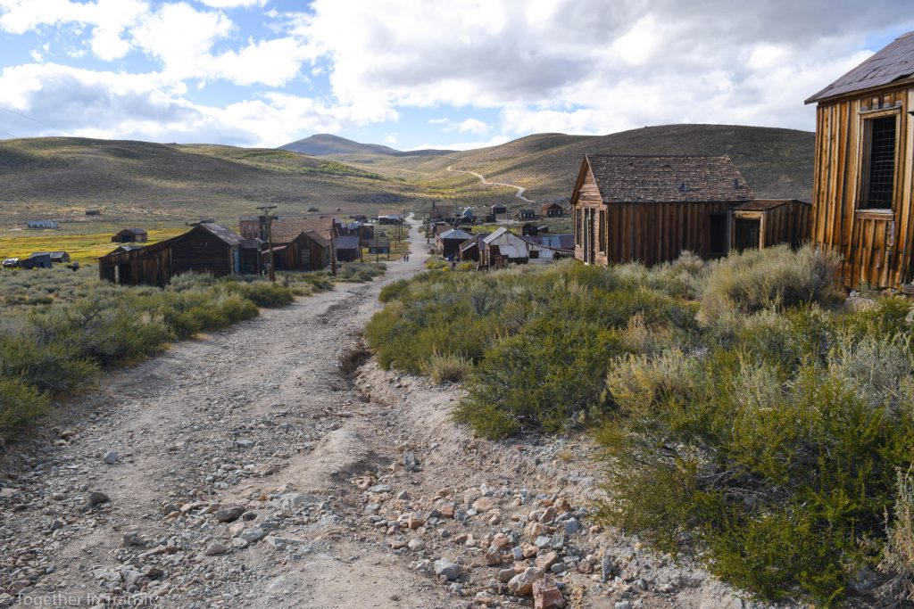 The streets at Bodie State Park, California