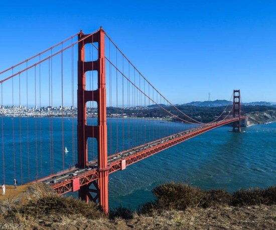 View of the Golden Gate Bridge from our cycle route