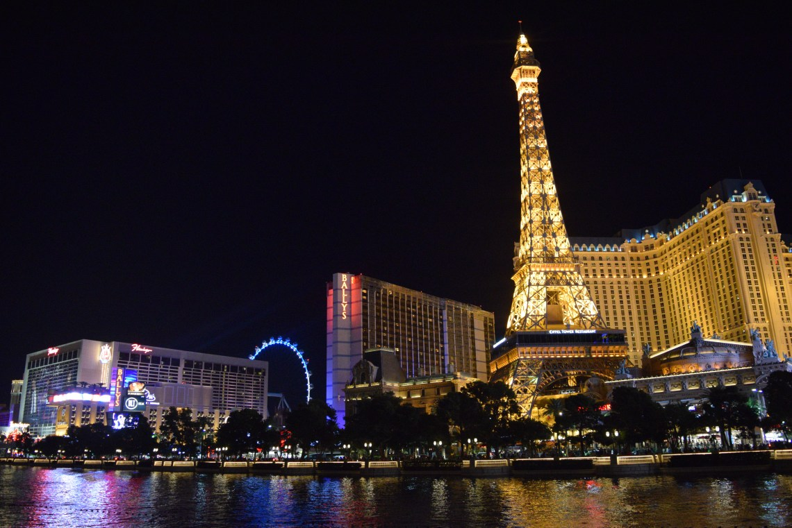 Las vegas strip with Paris hotel