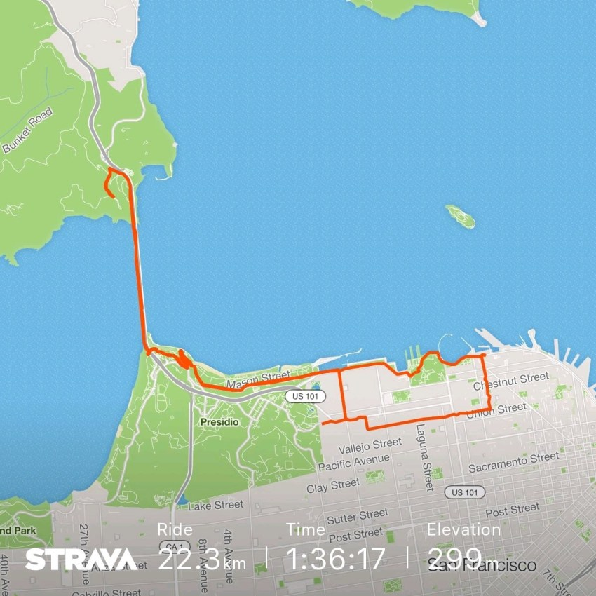 Cycling in San Francisco Stats on Strava