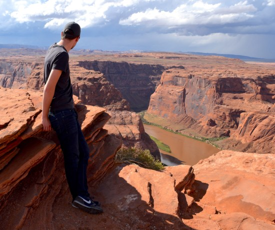Hiking the horseshoe bend was amazing to see!