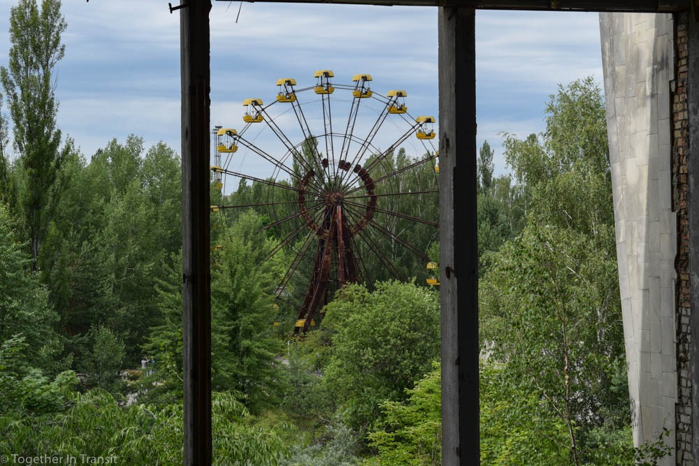 The Chernobyl Disaster - the famous ferris wheel from an old building of apartments