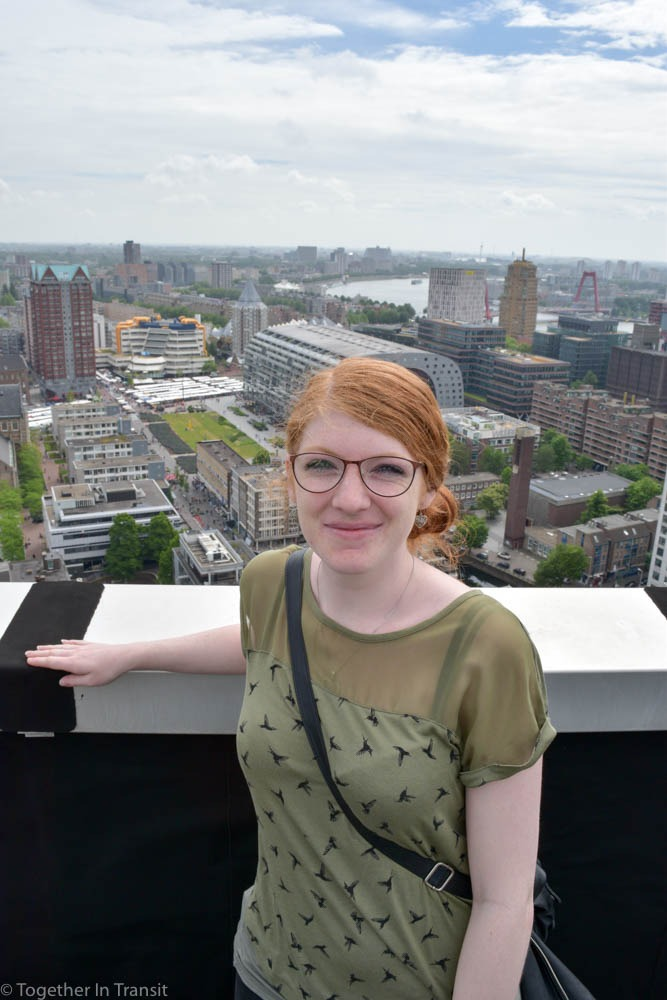 Me at the top of WTC building in Rotterdam