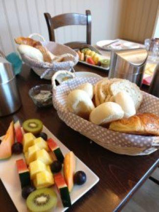 Breakfast at B&B Laurus near Ypres, Belgium.