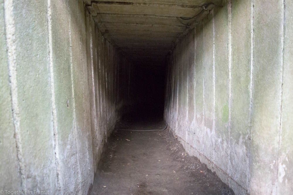 One of the concrete tunnels at Sanctuary Wood, Hill 62. Used by the allies on the front line.