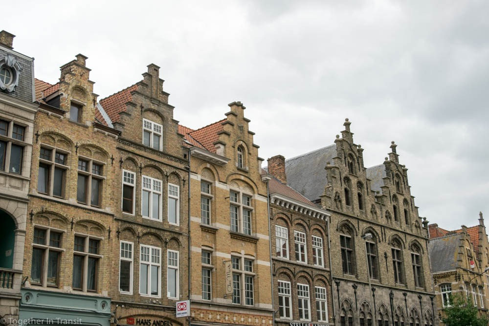 Houses in Ypres, rebuilt after World War One