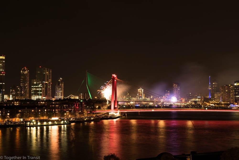 Fireworks in Rotterdam Wereld Haven Dagen