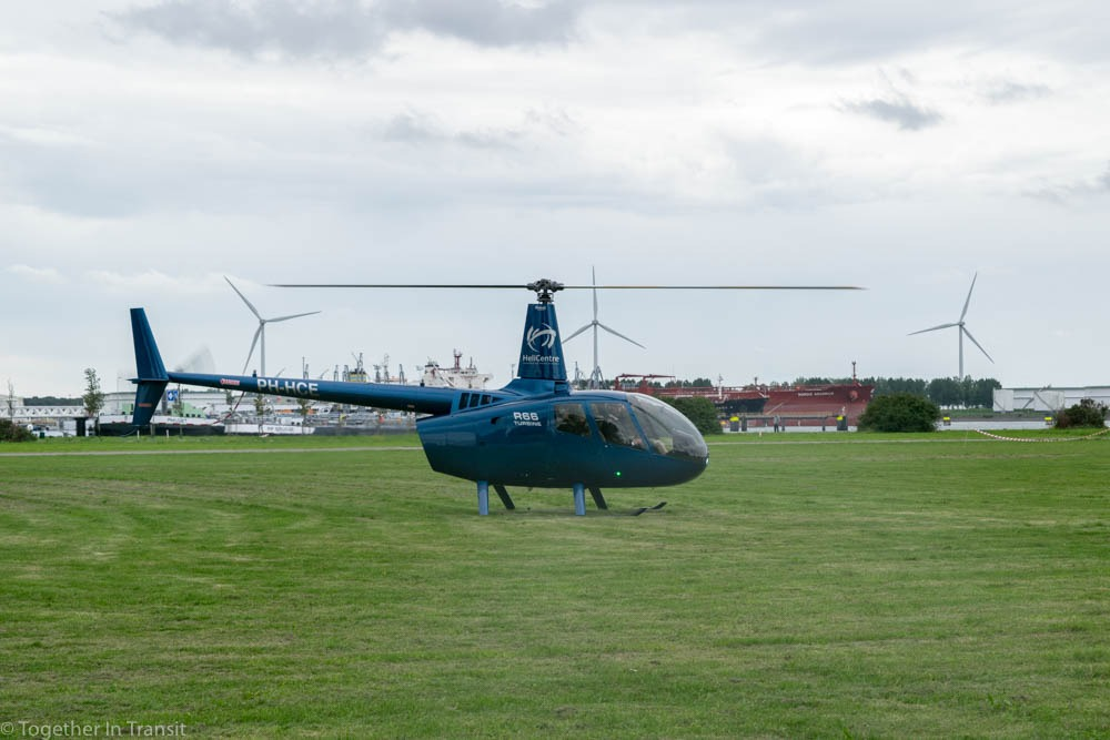 Helicopter from Helicentre we had our flight with during our Rotterdam Helicopter Tour and Wereld Haven Dagen