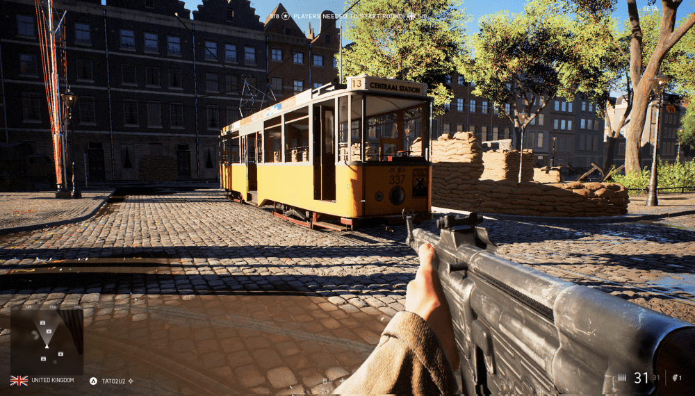 Battlefield 5 Rotterdam Map Comparison Tram in Rotterdam