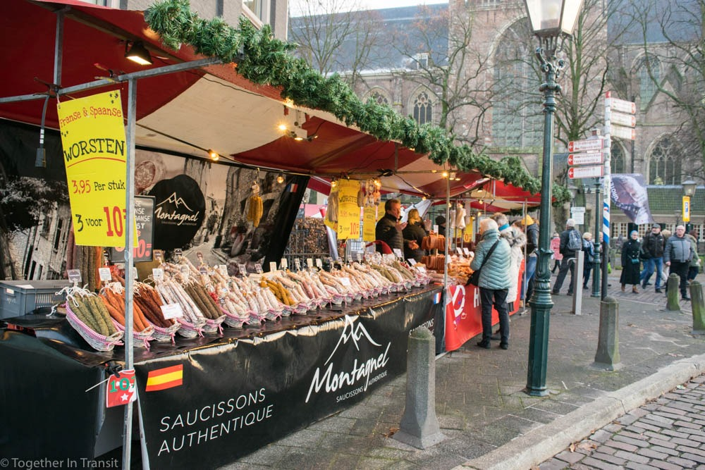 One of the food stalls at the Dordrecht Christmas Market