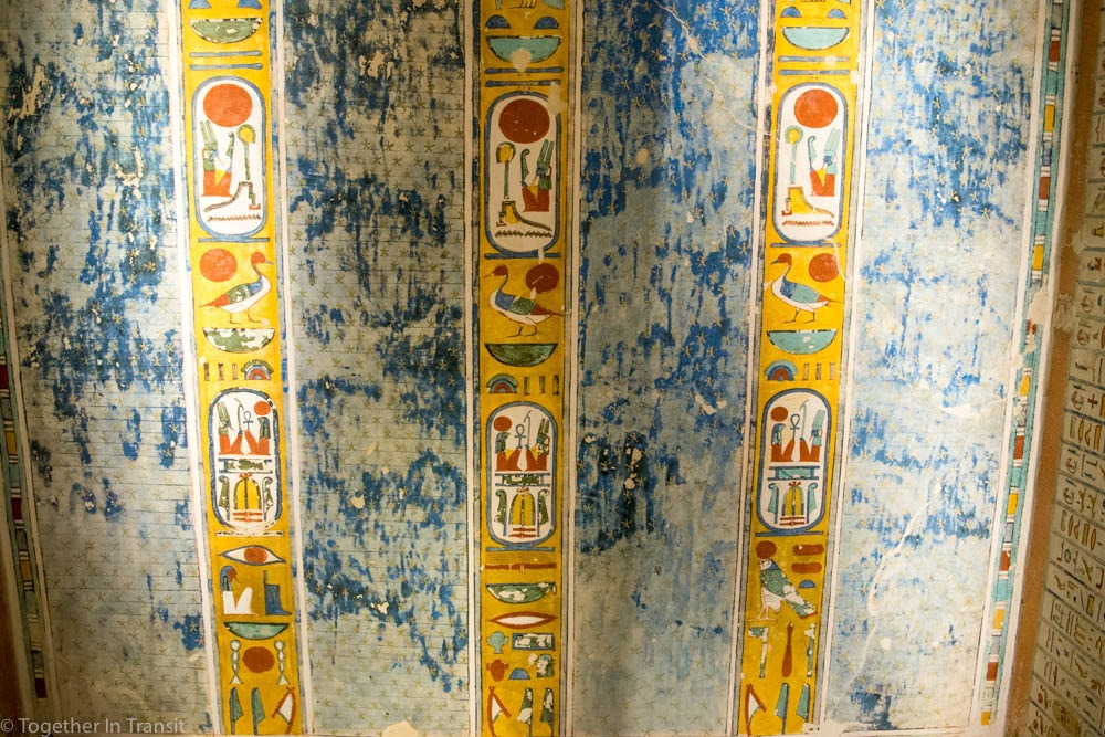 Valley Of The Kings - Ramesses IV KV2 the 4th inside the tomb in 2018