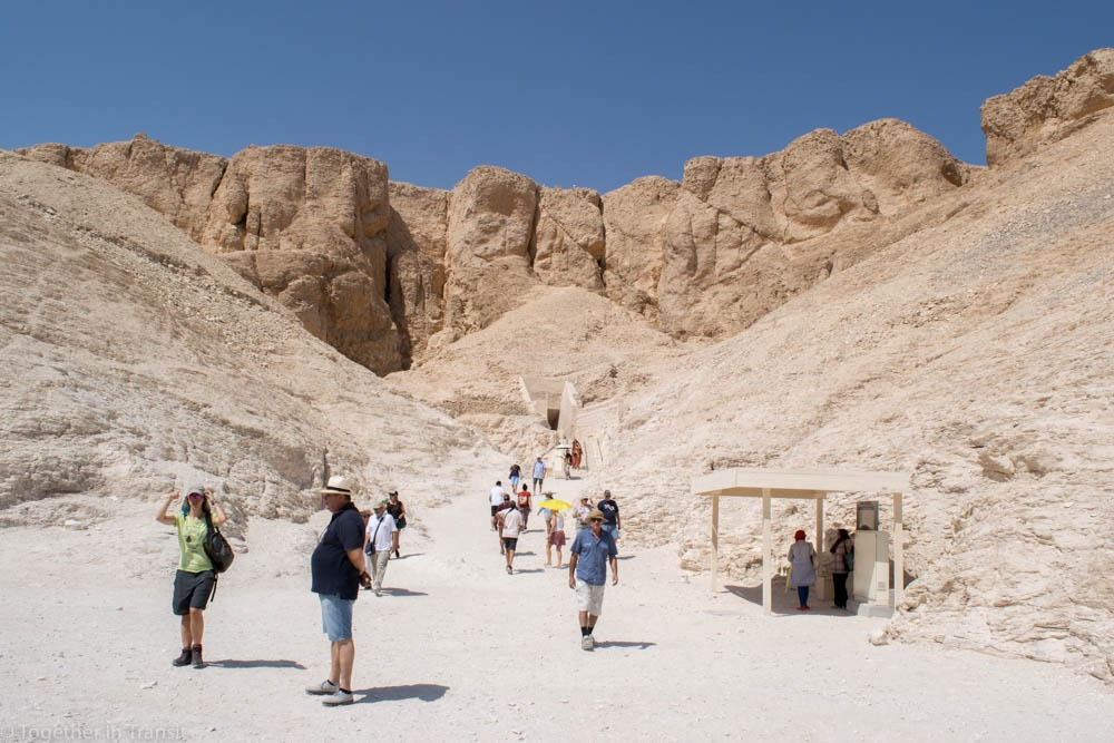 Valley Of The Kings - The area between the tombs during our 2018 visit