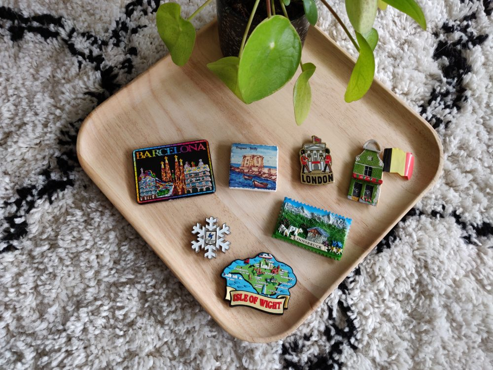 What do you collect as a travel souvenir? Our obsession is magnets from every location we've been to!