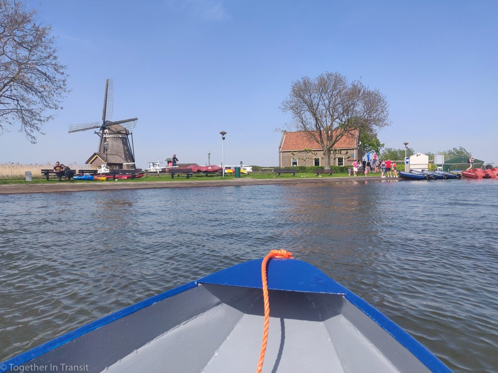 Arriving at the boat hire shop on the Rotte River