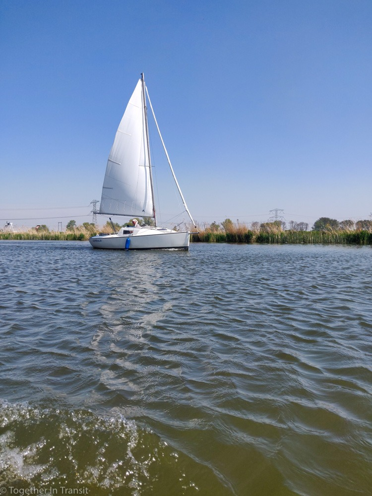 One of the sail boats on the Rotte, Rotterdam