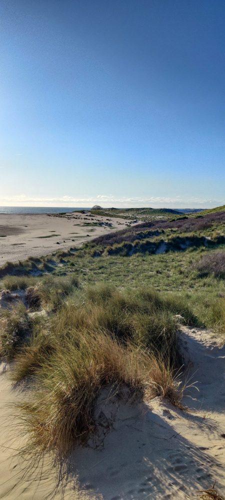 The beach view at Maasvlakte Beach