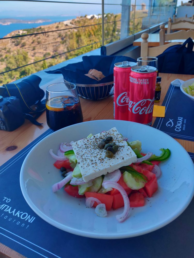 Lunch with a view at Patmos Island