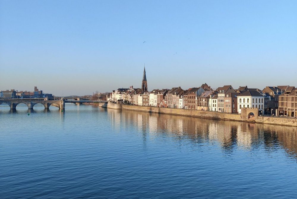 city reflection of Maastricht on a Spring day