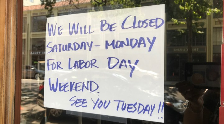 Labor Day Shop Sign